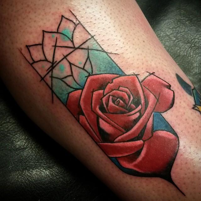 Rose on arm
